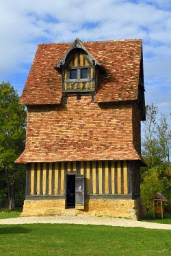 HMS3478146 France, Calvados, Pays d'Auge, Crevecoeur en Auge castle, Schlumberger Museum Foundation, the dovecote