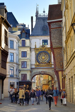 HMS3478378 France, Seine-Maritime, Rouen, the Gros Horloge is an astronomical clock dating back to the 16th century