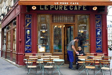 HMS3293039 France, Paris, Le Pure Cafe rue Jean Mace