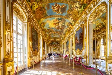 HMS3360089 France, Paris, Hotel de la Vrilliere Toulouse, headquarters of the Banque de France, the Galerie Doree