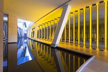 HMS3409624 France, Paris, Bois de Boulogne, Fondation Louis Vuitton by Frank Gehry, Olafur Eliason work of art, Inside the Horizon (2014)