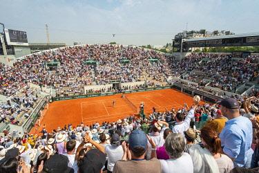HMS3325436 France, Paris, Roland Garros stadium, Tennis International, Suzanne Lenglen stadium