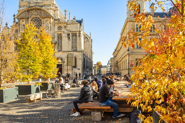 HMS3402983 France, Paris, the place of the Pantheon in autumn