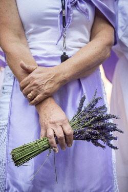 HMS3319174 France, Alpes de Haute Provence, Verdon Regional Nature Park, lavender festival in Valensole