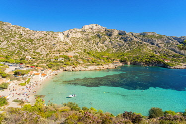HMS3363136 France, Bouches du Rhone, Marseille, Calanque of Sormiou, Calanques National Park