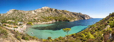 HMS3363176 France, Bouches du Rhone, Marseille, Calanque of Sormiou, Calanques National Park