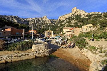 HMS3381914 France, Bouches du Rhone, Calanques National Park, Marseille, 8th arrondissement, Calanque de Callelongue
