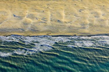 HMS3382718 France, Bouches du Rhone, Camargue Regional Nature Park, Arles, Piémanson beach (aerial view)