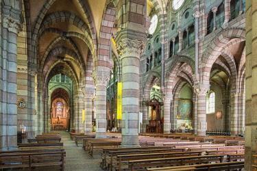 HMS3272365 France, Hautes-Alpes, Gap, departmental capital, Neogothic Notre-Dame-et-Saint-Arnoux cathedral built between 1866 and 1904