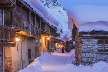 HMS3215847 France, Savoie, Vanoise National Park, Bonneval sur Arc, labelled Les Plus Beaux Villages de France (The Most Beautiful Villages of France), the highest village of Haute Maurienne (1850 m)