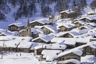 HMS3259982 France, Savoie, Vanoise National Park, Bonneval sur Arc, labelled Les Plus Beaux Villages de France (The Most Beautiful Villages of France), the highest village of Haute Maurienne (1850 m)