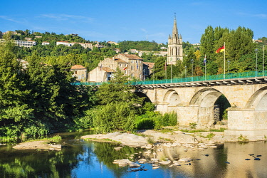 HMS3356918 France, Ardeche, Aubenas, Ucel bridge over Ardeche river
