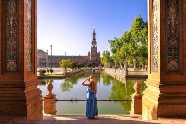 CLKST117326 Plaza de Espana, Seville, Andalucia, Spain (MR)