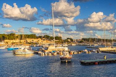 CLKGA115244 Boats moored in San vito Lo Capo harbour, Trapani province, Sicily, Italy