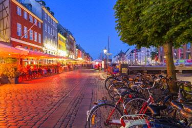 CLKAB115081 Bike in Nyhavn, Copenhagen, Hovedstaden, Denmark, Northern Europe.