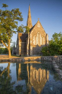 CLKAB115090 Sant Alban church in Copenhagen, Hovedstaden, Denmark, Northern Europe.