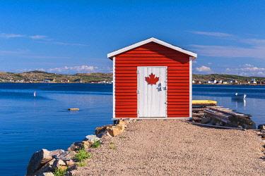 CLKFV113792 Traditional home of Joe Batt's Arm, Fogo Island, Newfoundland and Labrador, Canada