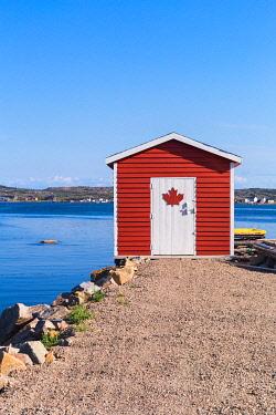 CLKFV113799 Traditional home of Joe Batt's Arm, Fogo Island, Newfoundland and Labrador, Canada