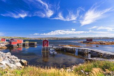 CLKFV113805 The fishing village of Joe Batt's Arm, Fogo Island, Newfoundland and Labrador, Canada