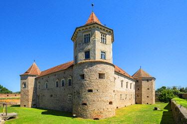 ROM1695AW Cetatea Fagarasului, Fagaras fortress, Transylvania, Romania