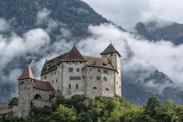 SWI8443AW Liechtenstein, Balzers, Gutenberg Castle