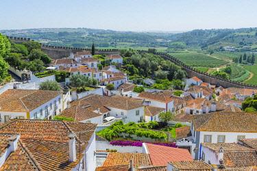 IBXGAB04934230 Medieval city of Obidos, Leiria District, Estremadura, Portugal, Europe