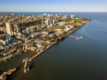 IBXJAS04935934 Aerial view, downtown of Maputo, Mozambique, Africa