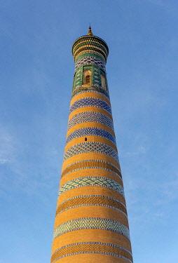IBXPSI04930865 Islom Hoja, Islam Khodja, Minaret, Khiva, Uzbekistan, Asia