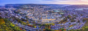 UK08601 View over the Georgian city of Bath, Somerset, England