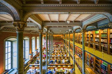 SW01188 Sweden, Stockholm, Royal Library, historic interior