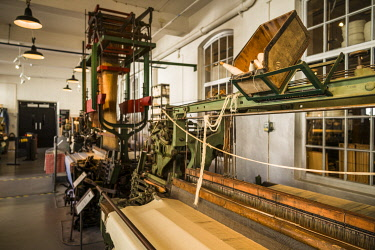 SW03158 Sweden, Southeast Sweden, Norrkoping, Norrkopings stadsmuseum, city history museum in former cloth mill, antique clothmaking machines