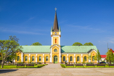 SW03174 Sweden, Oland Island, Borgholm, Borgholms kyrka, town church