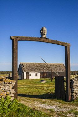 SW03185 Sweden, Gotland Island,  Fleringe, Groddagarden farm, 18th century legacy farm,  farm building