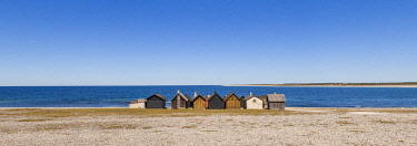 SW03223 Sweden, Faro Island,  Kursviken, coastal farmers fishing shacks