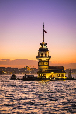 TK264RF Maiden's Tower (Kiz Kulesi) & Bosphorus from the Asian side of Istanbul, Turkey