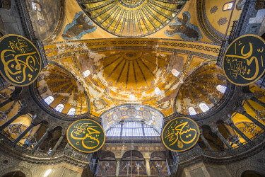 TK01675 Hagia Sofia (Byzantine basilica and UNESCO World Heritage Site), Sultanahmet, Istanbul, Turkey