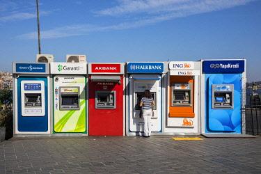TK01735 ATMs (cash machines) Istanbul, Turkey