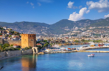 TK09485 Alanya Harbour and The Red Tower, Alanya, Turkey