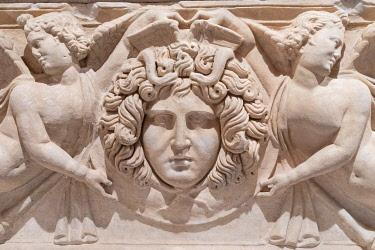 TK09510 Detail of the Sarcophagus, Antalya Archeological Museum, Antalya, Turkey