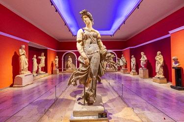 TK09514 Statue of a Dancing Woman, Antalya Archeological Museum, Antalya, Turkey