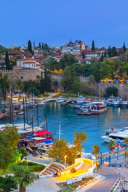 TK09517 Old Harbour at Dusk, Kaleici, Antalya, Turkey