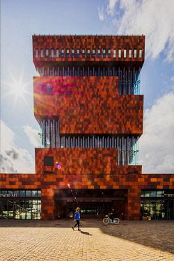 BEL1922AW Museum aan de Stroom at sunset, Antwerp, Belgium