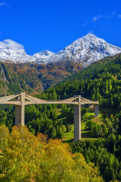Ganter bridge of Simplon pass road, Valais, Switzerland