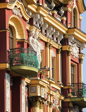 UA01124 Ukraine, Kyiv, Shevchenkivskyi District, Neighborhood, Neo-Renaissance Style Architecture, Residential And Commercial Real Estate