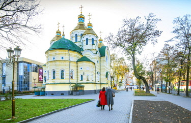 UA01158 Ukraine, Rivne, Holy Resurrection Cathedral, Ukranian Orthodox Church, Built In Late 1800's