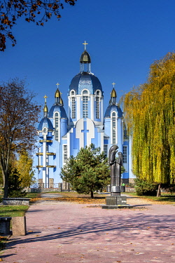UA01174 Ukraine, Vinnytsya, Monument To Victims Of The Chernobyl Nuclear Disaster, In Front Of The Church Of The Holy Mary, Orthodox Church