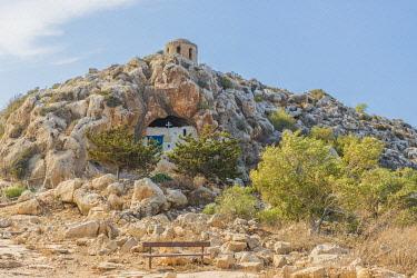 CYP0244AWRF Ayioi Saranta Cave Church, Protaras, Cyprus. The church is aslo known as Saranta Martyres, Forty martyrs or holy Forty church.