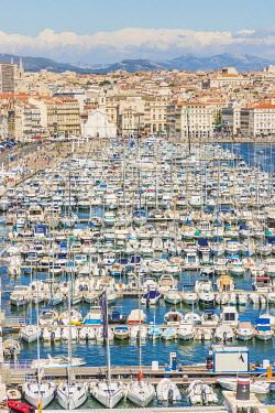 FRA11774AWRF Elevated view over Vieux Port, Marseille, France