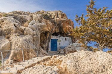 CYP0174AW Ayioi Saranta Cave Church, Protaras, Cyprus. The church is aslo known as Saranta Martyres, Forty martyrs or holy Forty church.
