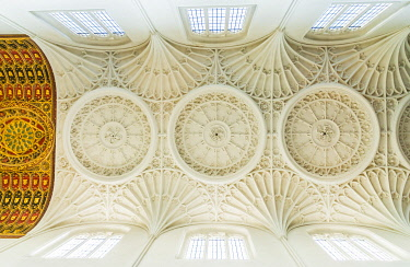 ENG16321AW Ceiling at St Mary Aldermary Church, London, England